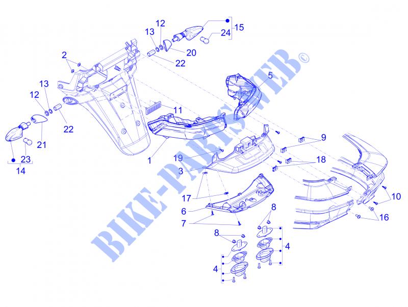 Business ASR Sport 400 DEL clignotant piaggio mp3 300 b5 500