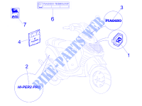 Monogrammes   Decorations pour PIAGGIO Zip SP Euro 2 de 2010