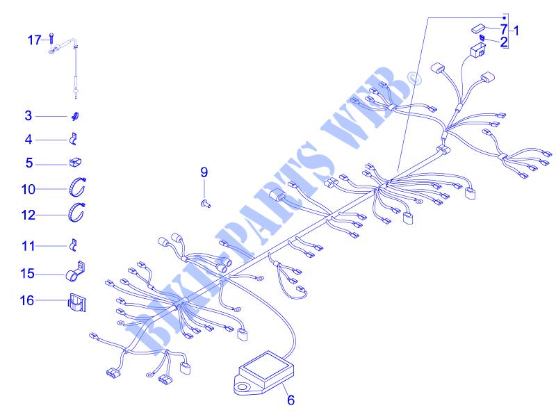 Faisceau De C U00e2bles Principal Pour Gilera 125 Nexus E3 De